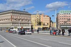 斯德哥尔摩的公担零件看法  图库摄影