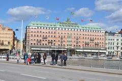 斯德哥尔摩的公担零件看法  免版税图库摄影