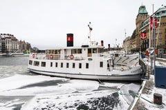 斯德哥尔摩群岛小船 免版税库存照片