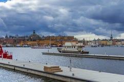 斯德哥尔摩老镇全景 图库摄影