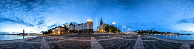 斯德哥尔摩老镇地平线在Gamla斯坦 库存图片