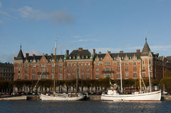 斯德哥尔摩街道瑞典视图 免版税库存图片