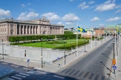 斯德哥尔摩视图-王宫 库存图片