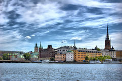 斯德哥尔摩视图 免版税库存照片