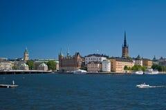斯德哥尔摩视图 免版税图库摄影
