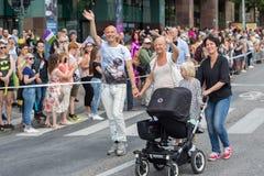 斯德哥尔摩骄傲游行2016年 图库摄影