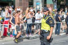 斯德哥尔摩骄傲游行2016年 库存照片