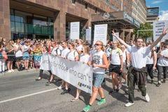 斯德哥尔摩骄傲游行2016年 免版税库存图片