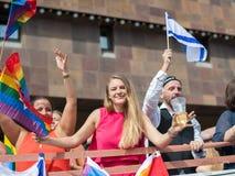 斯德哥尔摩骄傲游行2016年 免版税库存照片