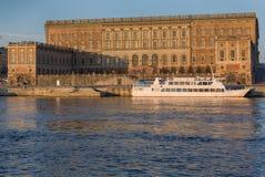 斯德哥尔摩,王宫。 免版税库存图片