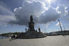 """斯德哥尔摩,瑞典†""""2017年6月15日:对古斯塔夫国王的一座纪念碑 库存图片"""