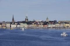 """斯德哥尔摩,瑞典†""""2017年6月16日:斯德哥尔摩分的看法 免版税库存照片"""