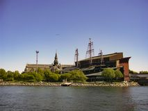斯德哥尔摩,瑞典的首都,被延长总共14个海岛 库存照片