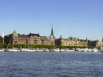 斯德哥尔摩,瑞典的首都,被延长总共14个海岛 库存图片