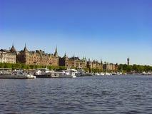 斯德哥尔摩,瑞典的首都,被延长总共14个海岛 免版税库存照片