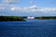 斯德哥尔摩,瑞典轮渡北欧海盗线 免版税库存图片