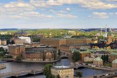 斯德哥尔摩,瑞典鸟瞰图  免版税库存照片