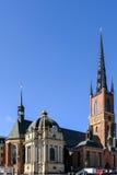斯德哥尔摩,瑞典,教会Riddarholmskyrkan 库存照片