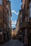 斯德哥尔摩,瑞典,走的游人 免版税库存照片