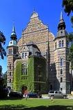 斯德哥尔摩,瑞典, Djurgarden海岛-北欧人Mu前面门面  库存照片