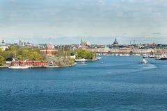 斯德哥尔摩,瑞典, seaview 免版税库存图片