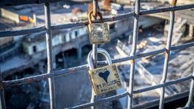 斯德哥尔摩,瑞典:斯德哥尔摩爱锁的看法  免版税图库摄影