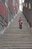 斯德哥尔摩,瑞典-对天堂的楼梯 免版税库存图片