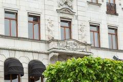 斯德哥尔摩,瑞典- 2016年5月28日:瑞典房子Svenska Lifs Hus 库存图片