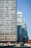 斯德哥尔摩,瑞典-摩天大楼现代建筑学在商业区在城市的中心 免版税库存照片