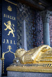 斯德哥尔摩,瑞典- 2016年8月20日:比耶Jarl双纪念碑  库存图片