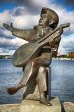斯德哥尔摩,瑞典- 2016年8月19日:Evert Taube monumen看法  免版税库存图片