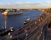 斯德哥尔摩,瑞典-波罗的海运河和Stadsgardsleden bouleva 库存照片