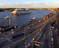 斯德哥尔摩,瑞典-波罗的海运河和Stadsgardsleden bouleva 库存图片