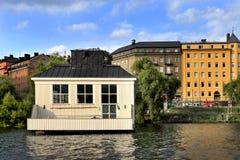 斯德哥尔摩,瑞典-现代住宅处所在开发了 库存照片