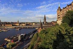 斯德哥尔摩,瑞典-老镇处所有市政厅的a Gamla斯坦 免版税库存照片