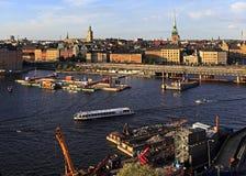 斯德哥尔摩,瑞典-老镇处所有市政厅的a Gamla斯坦 库存图片