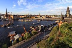 斯德哥尔摩,瑞典-老镇处所有市政厅的a Gamla斯坦 库存照片
