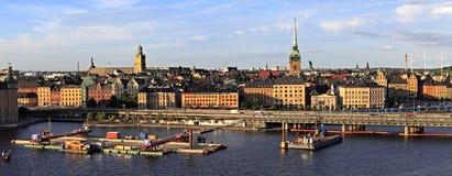 斯德哥尔摩,瑞典-老镇处所Gamla斯坦和Tyska Kyrka 免版税库存图片