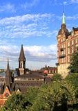 斯德哥尔摩,瑞典-老镇处所Sodermalm 免版税库存照片