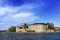 斯德哥尔摩, Vaxholm海岛,瑞典- XVI世纪堡垒Vaxholm 免版税库存图片