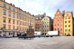 斯德哥尔摩 城市的历史中心 免版税库存照片