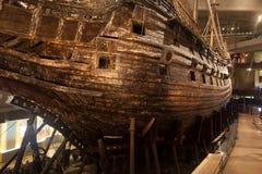斯德哥尔摩- 1月6 :17世纪脉管军舰抢救从 免版税库存照片