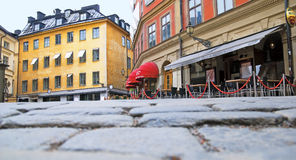 斯德哥尔摩 瑞典 咖啡馆在城市的中心 库存照片
