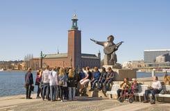 斯德哥尔摩 瑞典 外推Taube纪念碑 免版税库存照片