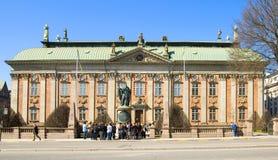 斯德哥尔摩 瑞典 骑士议院在Gamla斯坦 库存图片