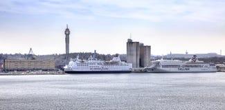 斯德哥尔摩 端口 免版税图库摄影