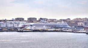 斯德哥尔摩 端口 库存图片