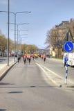 斯德哥尔摩 马拉松 体育运动 免版税库存照片