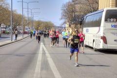斯德哥尔摩 马拉松 体育运动 库存照片