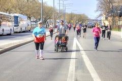 斯德哥尔摩 马拉松 体育运动 免版税库存图片
